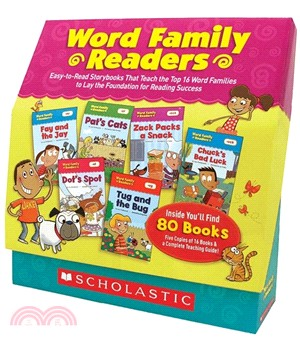 Word Family Readers:Grades K-2: Easy-to-Read Storybooks That Teach the Top 16 Word Families to Lay the Foundation for Reading Success
