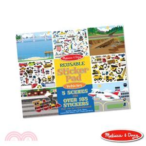 美國瑪莉莎Melissa & Doug 靜電貼紙收藏簿 交通工具