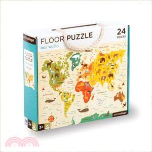 【美國Petit-Collage】地板拼圖-世界地圖