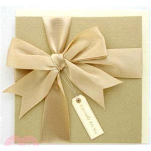 蝴蝶結禮物卡-金色禮物
