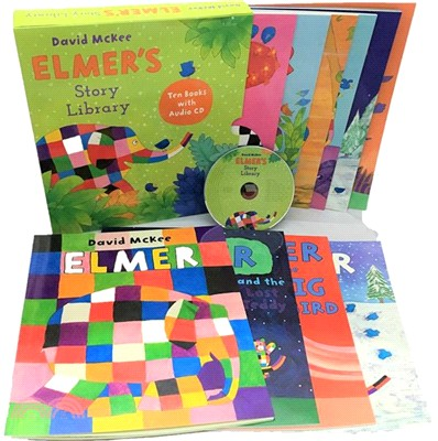 Elmer Slipcase Set (10平裝+1CD)(附書盒)