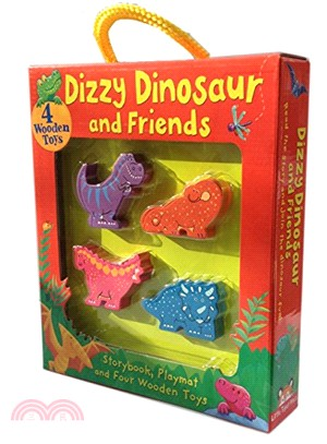 Dizzy Dinosaur and Friends (BB, Playmat & 4 Wooden Toys)