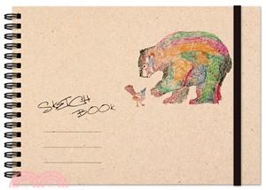 熊與鳥繪圖本(橫式)