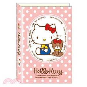 A6 三麗鷗布質6孔夾 Hello Kitty粉