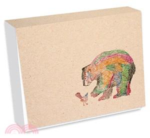 熊與鳥便條紙(彩色版)