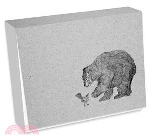 熊與鳥便條紙(黑白版)