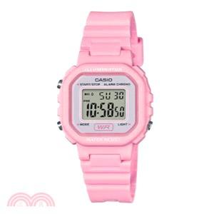 卡西歐CASIO 手錶小巧方形復古電子錶(粉)
